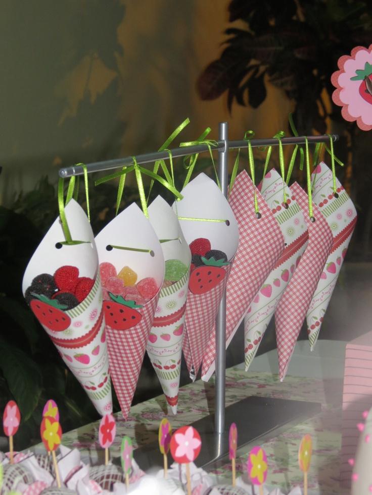 Table Decor  Luana's Party - Strawberry Theme  By Maison de Poupeé