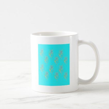 #Design  Feathers on Blue Coffee Mug - #office #gifts #giftideas #business