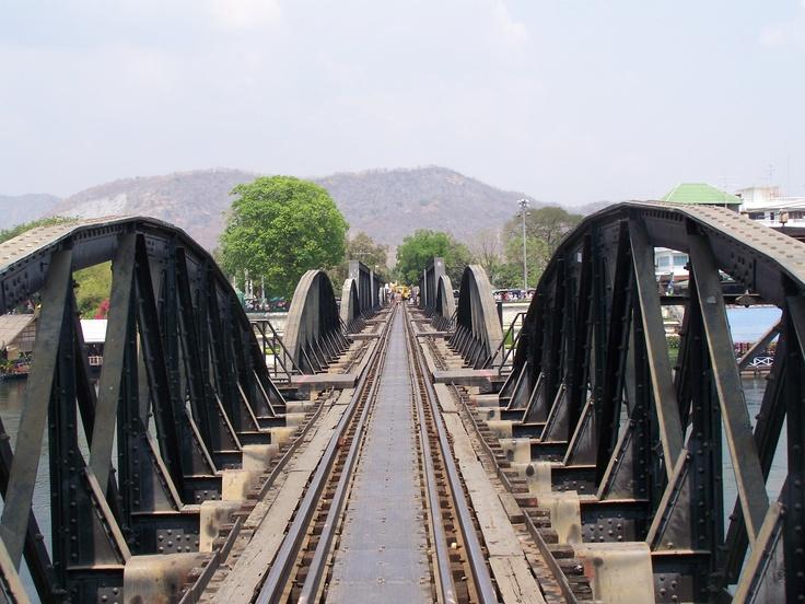 Bridge on the River Kwai. Kanchanaburi, Thailand.