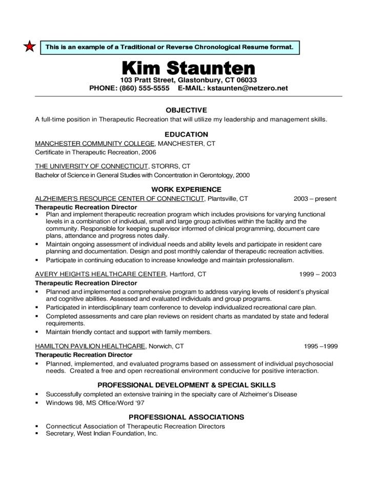 Reverse Chronological (With images) Chronological resume