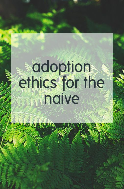 A discussion of international adoption ethics, and what those who are naive or apathetic can start to do.