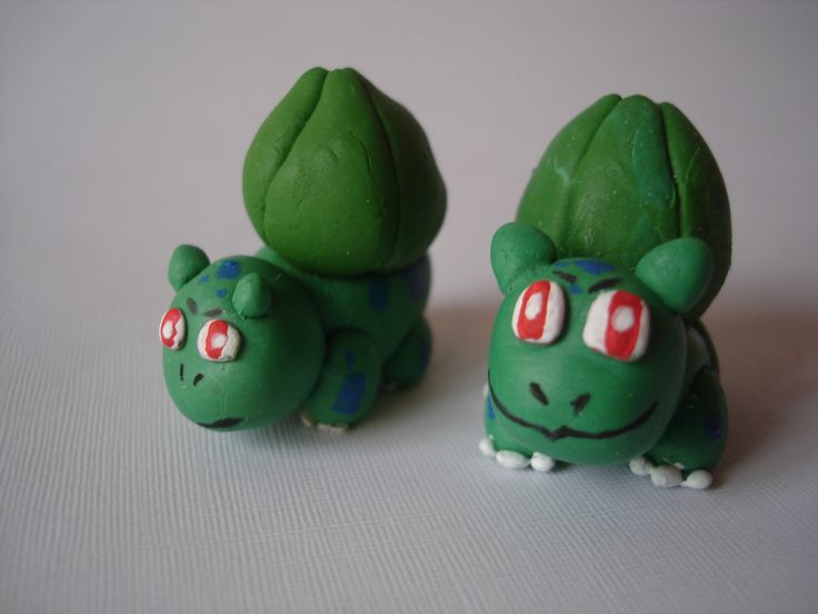 Bulbasaur. Pokemon en Porcelanicron.