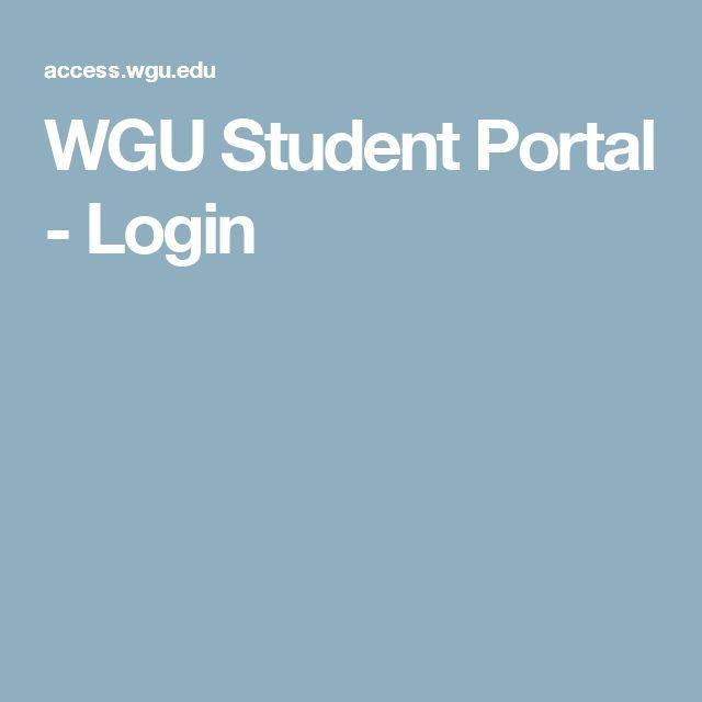 WGU Student Portal - Login