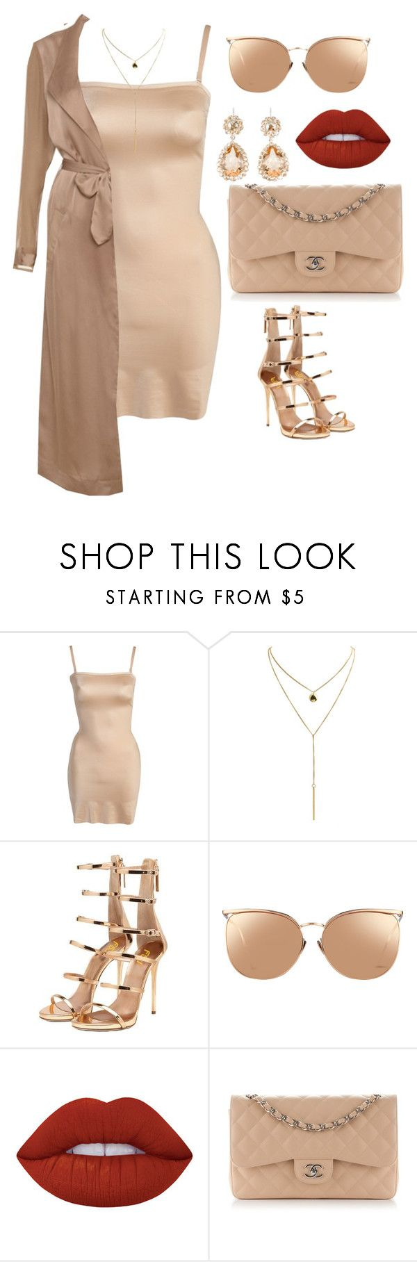 """Untitled #694"" by amoney-1 ❤ liked on Polyvore featuring SPANX, Linda Farrow, Lime Crime, Chanel and Miu Miu"