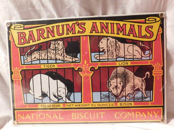 Barnum's Animals National Biscuit Company Nabisco Ande