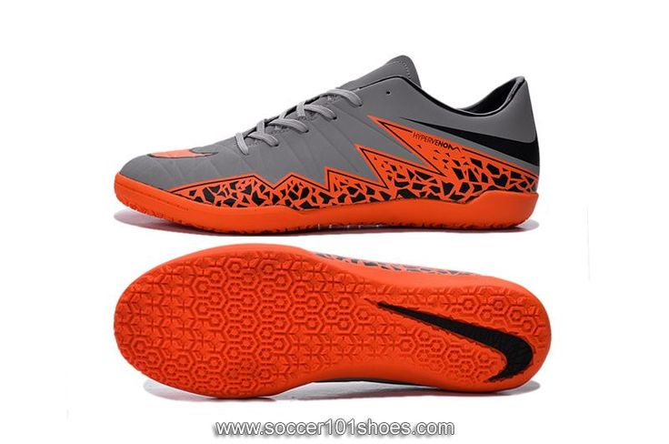 Nike Men's Hypervenom Phelon II IC Indoor Football Soccer Shoes Grey Orange $73.00