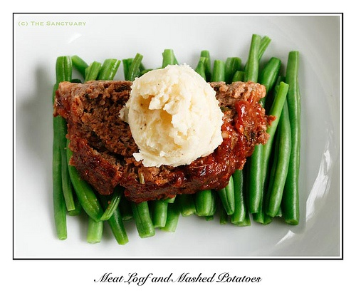 Sirloin Meatloaf with Mashed Potatoes | Food | Pinterest