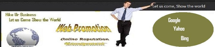 Best web promotion service in India offers you best On- page as well as off- page SEO services in India. We have a deep experience in analyzing web sites and always target the search engine ranking updates.      If you want to Increase Website traffic.      If you want to increase sales and revenue .     If you want to build awareness about your product.      If you want to generate new leads and customers.      If you want to Promote your product.