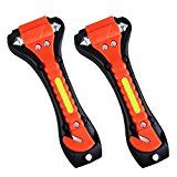 VicTsing 2 Pack Car Safety Hammer Emergency Escape Tool with Car Window Breaker and Seat Belt Cutter Life Saving Survival Kit
