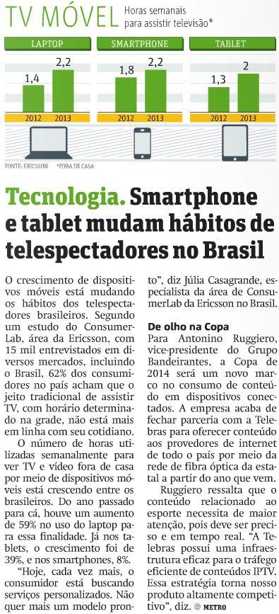 모바일기기가 브라질인 TV 시청 습관 완전히 바꿨다
