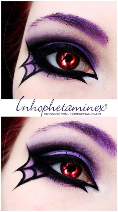 Spider make-up by Inhophetaminex on deviantART