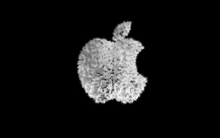 Меховой логотип Apple