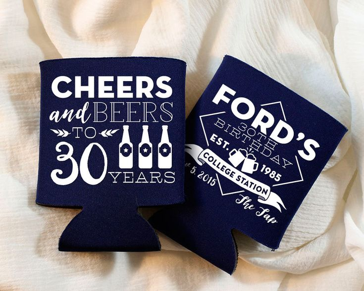 New to SipHipHooray on Etsy: Birthday Party Favors 30th Birthday Cheers to 30 Years Party Favors Custom Party Favors Personalized Party Favor Cheers and Beers 1398 (75.00 USD)