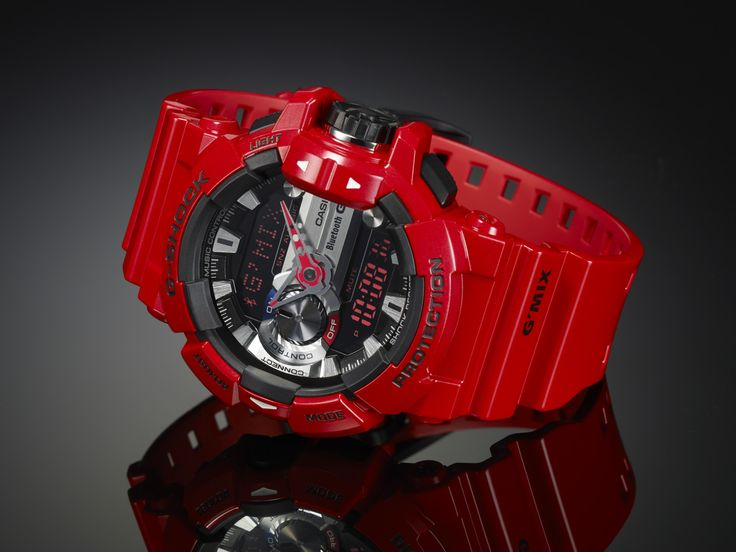 Bluetooth enabled G-Shock GBA-400 in Hot Red !