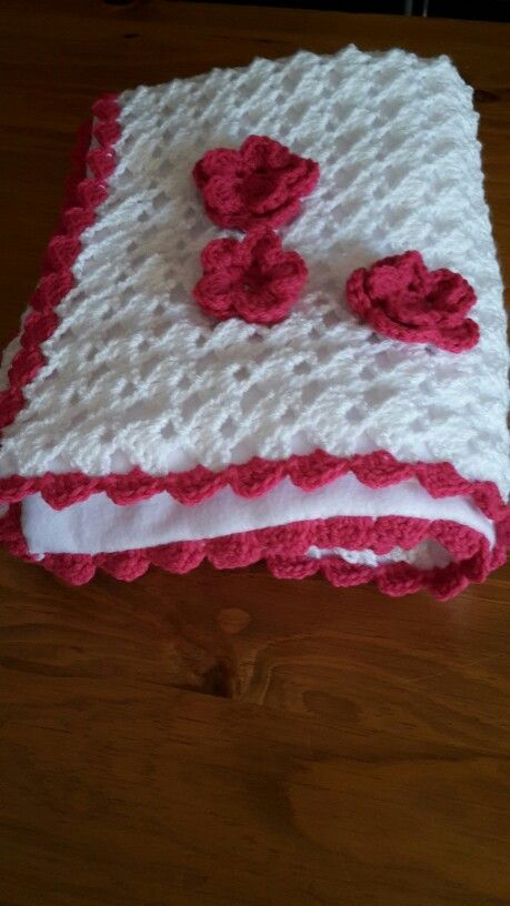 Fleece lined baby blanket