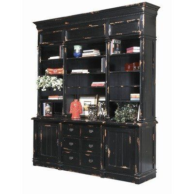 Apothecary Cabinet Finish: Distressed black by Furniture Classics LTD. $3737.50. 2200-D1 Finish: Distressed black Features: -Material: Mahogany.-Hand painted.-Multi-layered and then blistered to afford an antique patina.-Four adjustable end shelves.-Two doors with shelf behind each, and six drawers. Color/Finish: -Simple crown, dentil moldings and molded panels are small details accenting three adjustable center shelves.