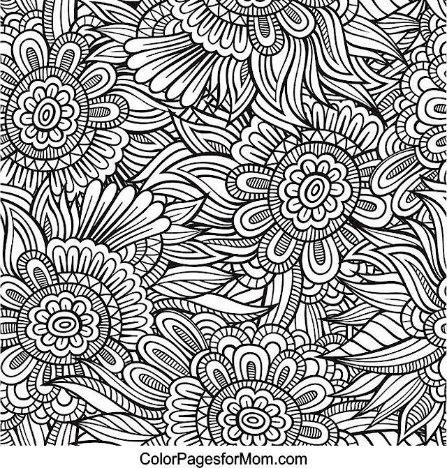 Flower Abstract Doodle Zentangle Paisley Coloring pages colouring adult detailed advanced printable Kleuren voor volwassenen coloriage pour adulte anti-stress kleurplaat voor volwassenen Doodles 64 Coloring Page