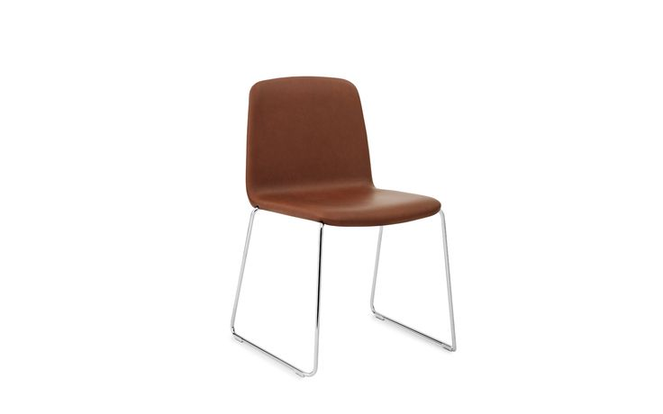 Just | elegant leather shell chair