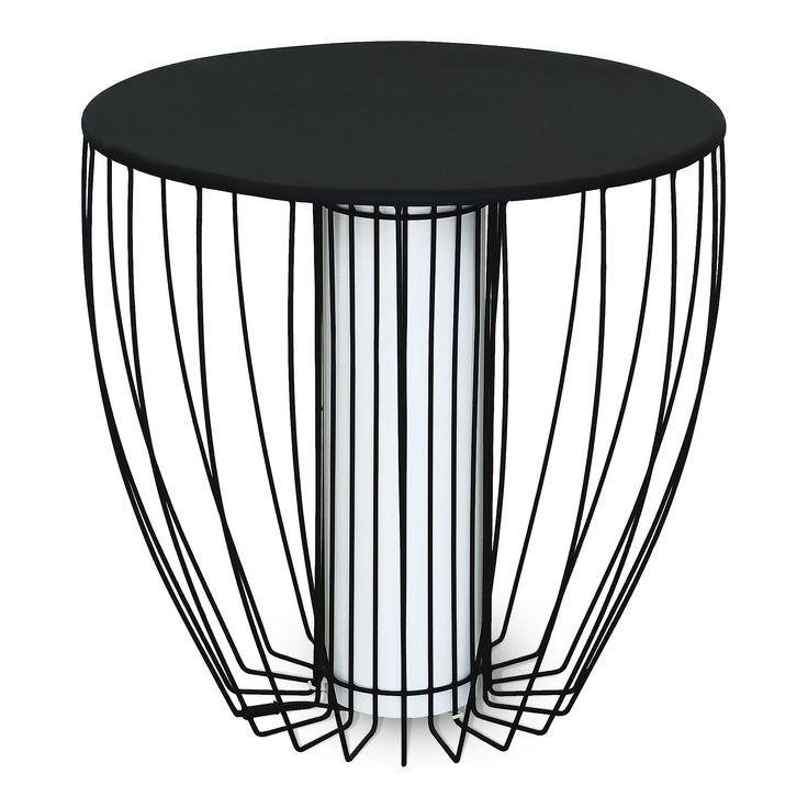Bout de canapé lumineux en acier Noir - Kama - Tables basses - Consoles, tables et chaises - Décoration d'intérieur - Alinéa