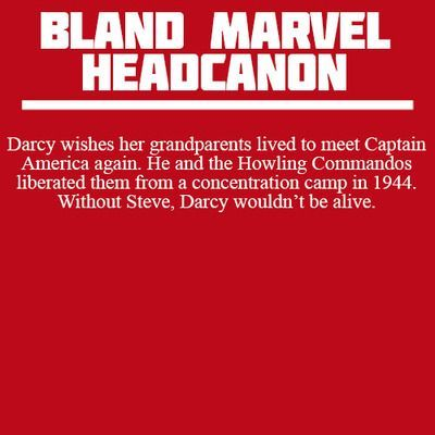 Bland Marvel Headcanon. Captain America: The First Avenger and Thor. Darcy Lewis, Steve Rogers (Captain America) and the Howling Commandos. - Visit now to grab yourself a super hero shirt today at 40% off!