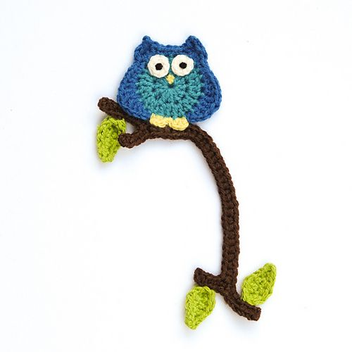 Little Owl Bookmark By Jelly Designs - Free Crochet Pattern - (ravelry)