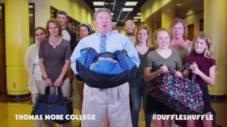 Time for our colleges and universities to do the #DuffleShuffle! Thanks to Thomas More College president, David Armstrong for shuffling. You've now been officially challenged, Geoff Mearns, President of Northern Kentucky University and Dorsey Kendrick, President of Gateway Community & Technical College to do the #DuffleShuffle!