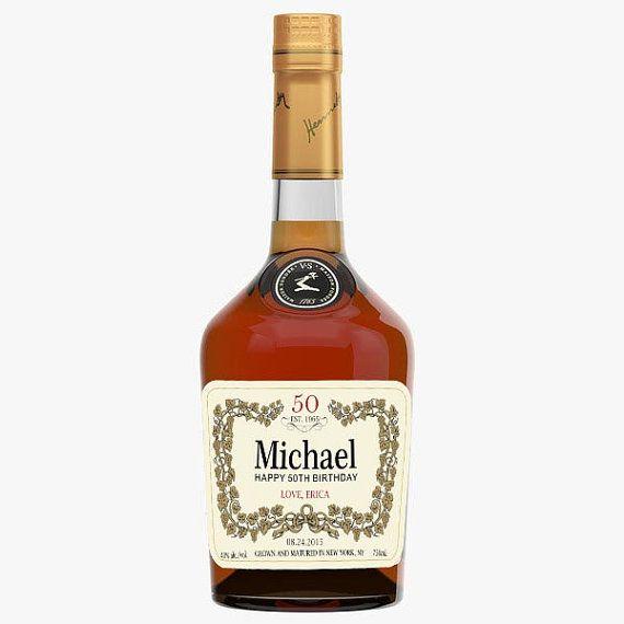 Personalized Birthday Hennessy Bottles Best by liquorlabels.net