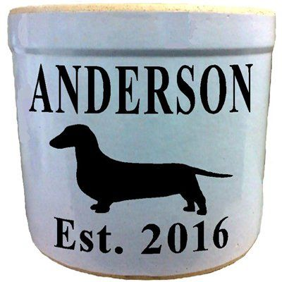 3 Gallon Personalized Stoneware Crock - Dachshund allsignsco https://www.amazon.com/dp/B06XJDCCYV/ref=cm_sw_r_pi_dp_x_.tZYyb27F68GR