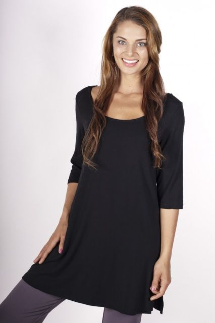 Midsleeve Tunic in Black from Bodypeace Bamboo