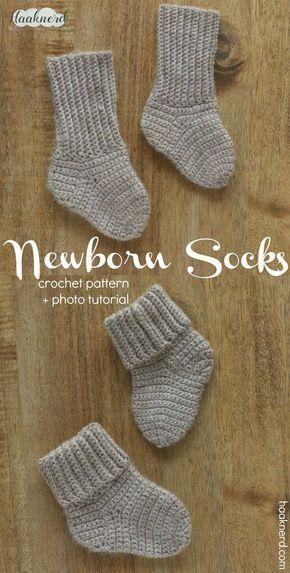 94df731ecafd Free step-by-step crochet pattern with photo tutorial for baby socks. via  Haaknerd