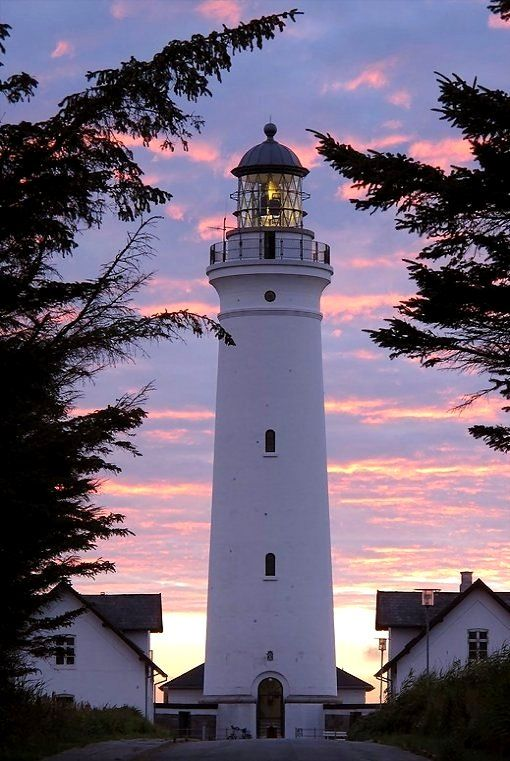 Hirtshals fyr (lighthouse) in the sunset, Jutland, Denmark | by behm foto