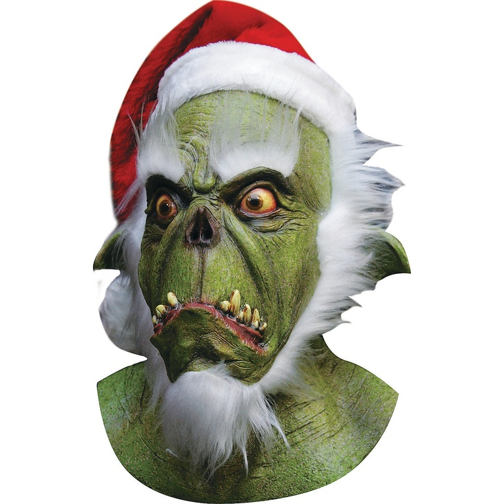 My dad is weird Grinch mask, Grinch costumes, Green santa