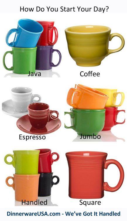Fiesta Mugs - Java Coffee Espresso Jumbo Handled u0026 Square #Fiestacoffeemugs  sc 1 st  Pinterest & 32 best Fiestaware Favorites images on Pinterest | Cutlery Dinner ...
