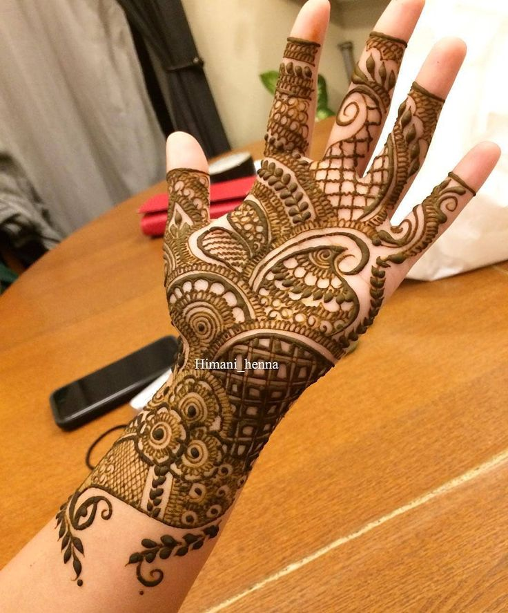13 Unique Henna Designs Doing The Rounds This Wessing: Simple Unique Yet Beautiful By @himani_henna