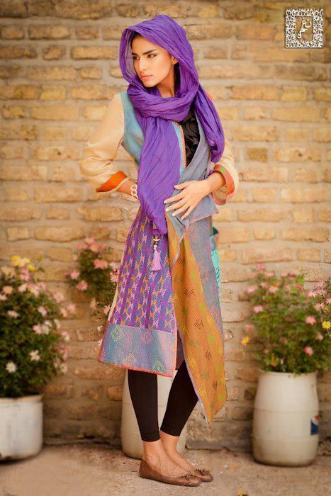 fantastic colors and pattern mix - via Alangoo