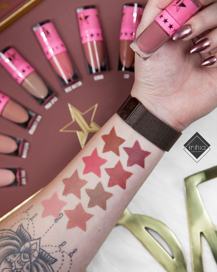 Pin on lipstick swatches