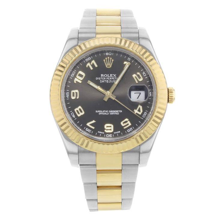 Refurbished Rolex Datejust II 116333 bkao 18K Yellow Gold & Steel Automatic Men's Watch