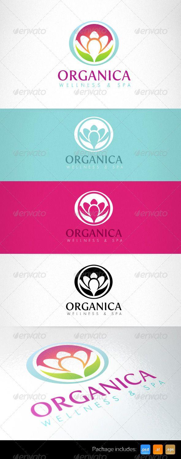 Organica Wellness Spa Healthcare Center Logo - Nature Logo Templates