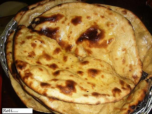 Indian Roti-bread in Melbourne restaurant