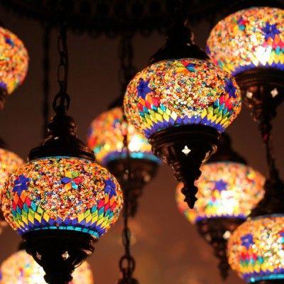 Люстра из стеклянной мозаики