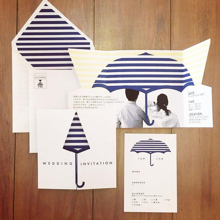 相合い傘がテーマのパーティの招待状。 本状がとじている時にしまっていた傘が、本状を開くと傘も開く仕掛けです。 お二人が実際に使われている傘に合わせて、ネイビーのボーダーでお作りしました。 #trunkbyshotogallery #playful #ウェディング #結婚式 #式場選び #デコレーション #love #smile #instagood #オリジナル #プロポーズ #婚約 #ファッション #ペーパーアイテム #プレ花嫁 #結婚式準備 #DIY #weddingtbt #雑貨 #インテリア #ウェディングアイテム #インテリア雑貨 #手作り #takeandgiveneeds #招待状 #2016冬婚 #2016秋婚 #2017春婚 #卒花 #ブライダル