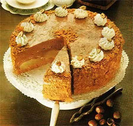 Грушевый торт с нугой (без выпечки)