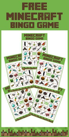 Free Printable Minecraft Bingo Game | Catch My Party