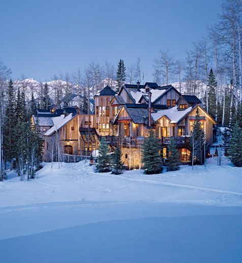 Home Sweet Home: Log Homes, Idea, Mountain, Beautiful Homes, Ski Chalet, Dream Homes, Log Cabins, Dream Houses, Place