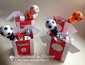 Handmade by Sofietje: Wie jarig is trakteert!!! #traktatie #voetbal #jongen