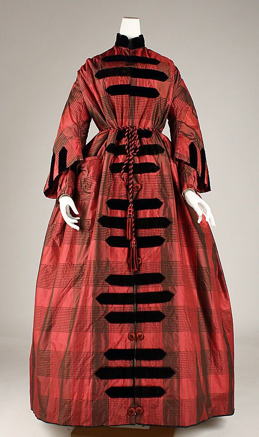 American dressing gown mid 1850's