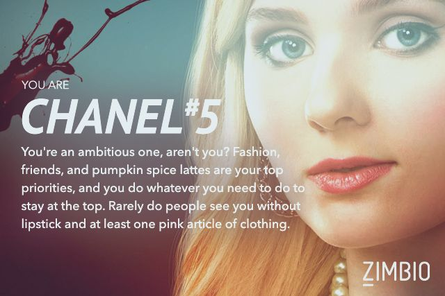 Which Scream Queen Are You? I got Chanel Oberlin