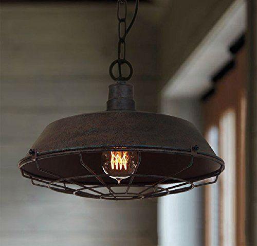COLLECTOR Industriale stile vintage pendente retrò Luce Lampada da soffitto ombra,luce da soffitto lampadario per cucina,soggiorno,camera da letto,Bar,ristorante,sala da pranzo decorazione, 360*1000(mm): Amazon.it: Illuminazione