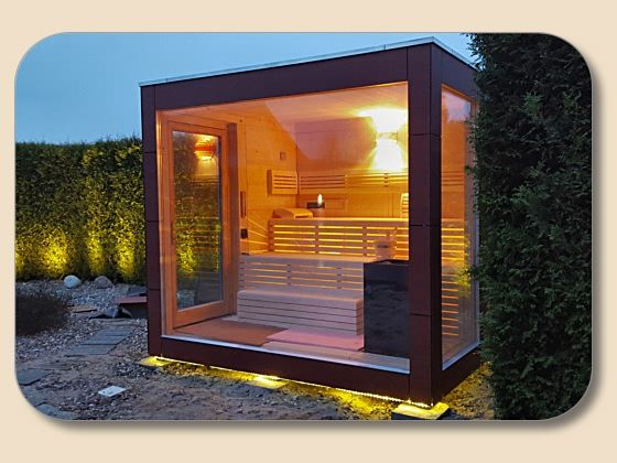 saunahaus design mit glasfront баня сауна saunas
