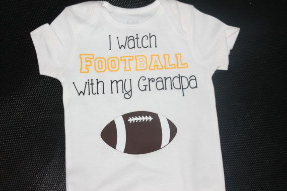 Boys  I watch football with my grandpa onesie by lambiesbands, $15.00
